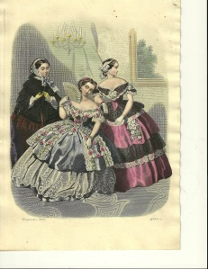 1850s hand colored engraving