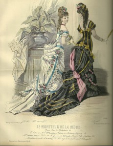 Le Moniteur De La Mode Hand Colored Engraving