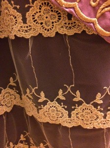 Closeup of the lace