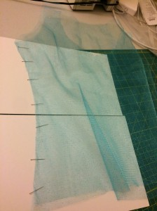Pinning tulle is a bit of an exercise in futility.