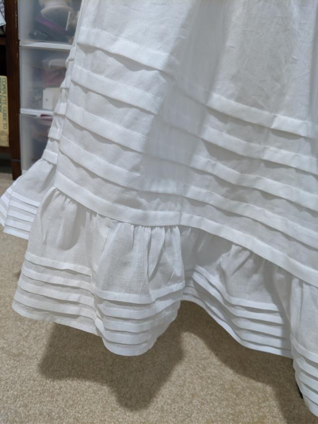closeup petticoat ruffle